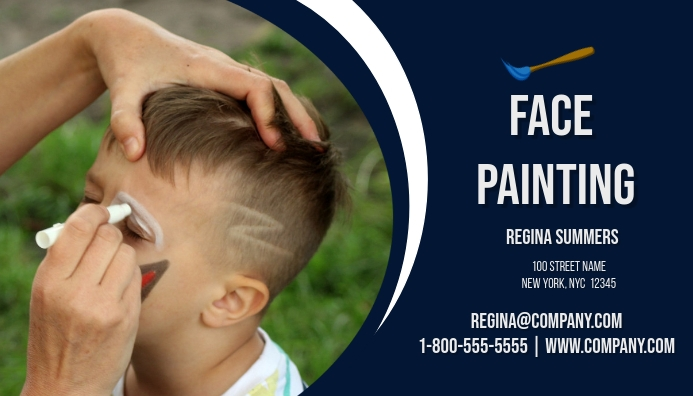 Face painting business card template postermywall face painting business card reheart Choice Image