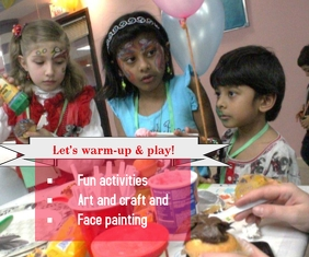 face painting Mellemstort rektangel template