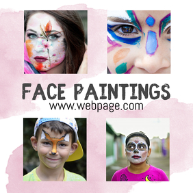 Face Painting Service Instagram template