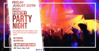facebook ad party night advertisement template