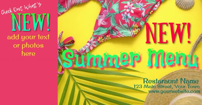 Facebook Ad Video Summer Menu template