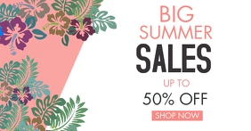facebook advertisement big summer sales up to template