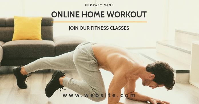 facebook advertisement for online home workou Facebook-advertentie template
