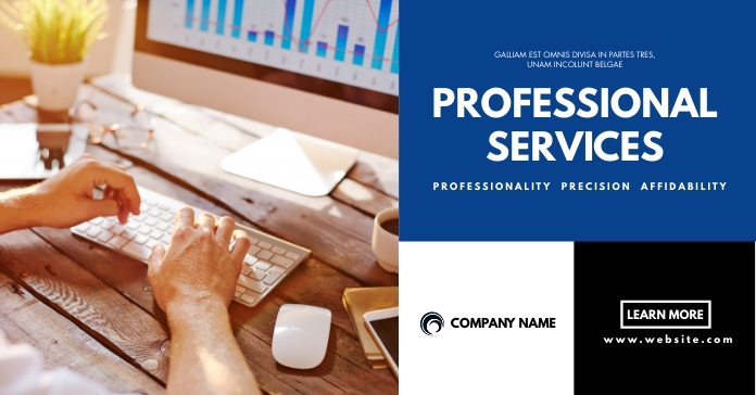 facebook advertisement professional services template