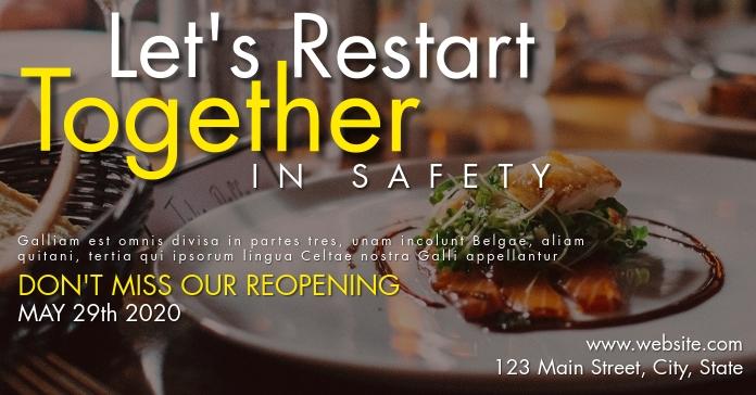 facebook advertisement restaurant opening template