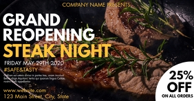 facebook advertisement steak night template