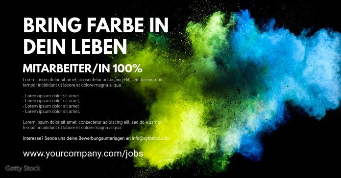 Facebook Advertisement Template Color Splash
