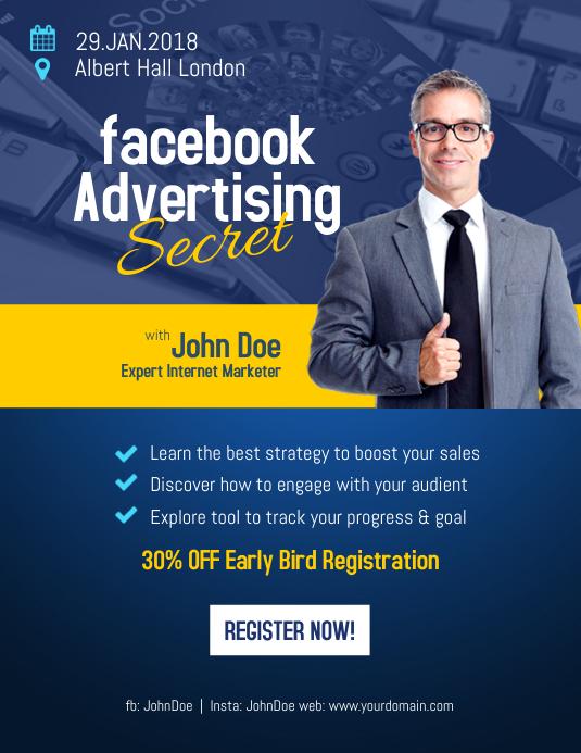 Advertising Flyer Template | Facebook Advertising Flyer Poster Template Postermywall