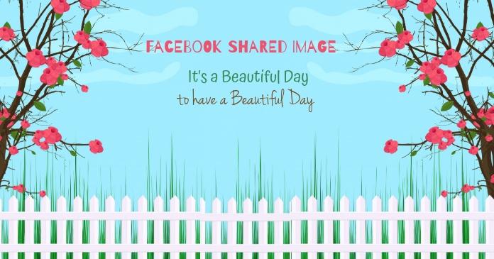 Facebook Background Template delt Facebook-billede