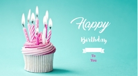 Birthday wish Digital Digitale Vertoning (16:9) template