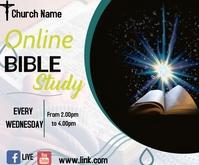 facebook bible study Medium Rectangle template