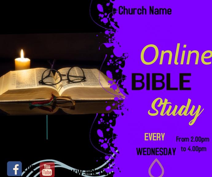 facebook bible study 中型广告 template