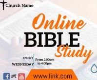 facebook bible study Rettangolo medio template