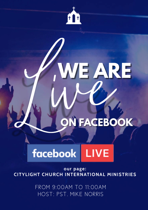 facebook church flyer A3 template