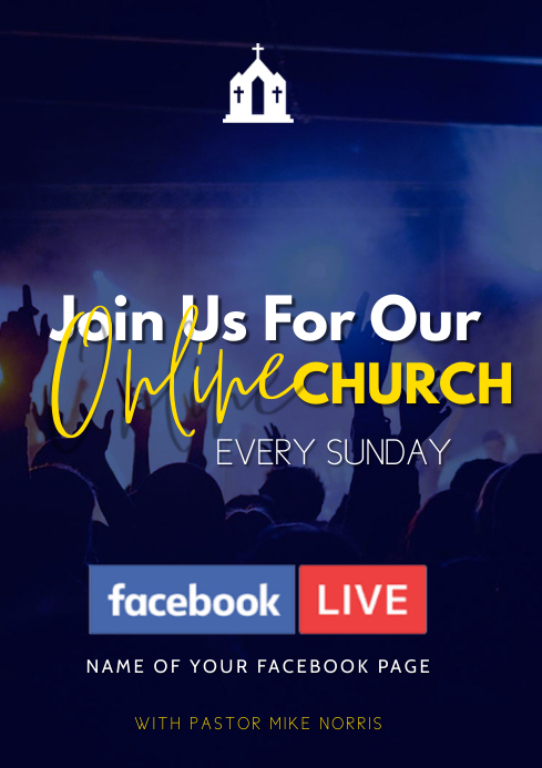 facebook church flyer A3 template