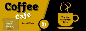 facebook cover coffee cafe flyer template