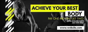 facebook cover design template gym advertisem