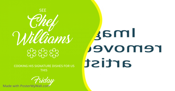 Facebook Cover Guest Chef Template