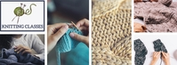 Facebook Cover Knitting Classes Template