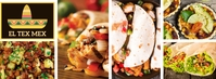 Facebook Cover Mexican Restaurant Template Ikhava Yesithombe se-Facebook