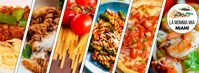 Facebook Cover Pasta Italian Restaurant Facebook-Cover template