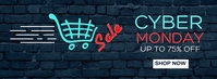 facebook cover / post cyber monday sales neon template