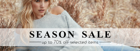 Facebook Cover Season sale summer template fashion