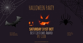 Facebook Halloweenparty post Template event
