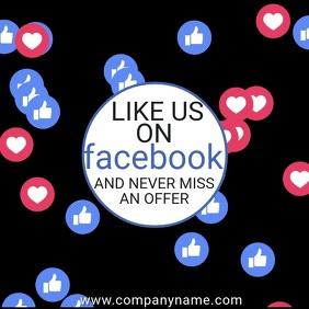 Facebook Likes Video Template Instagram Post
