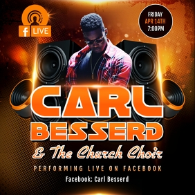 FACEBOOK LIVE CONCERT FLYER TEMPLATE