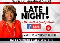 Facebook Live Event Briefkaart template