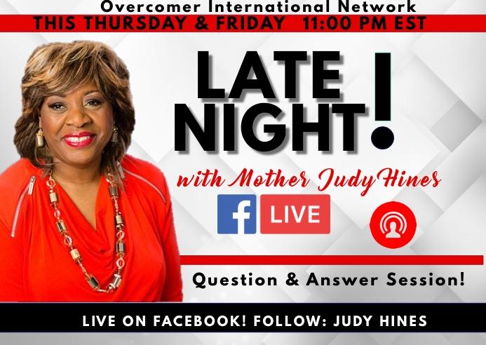 Facebook Live Event Postkort template