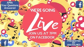 Facebook Live Instagram Ad Template