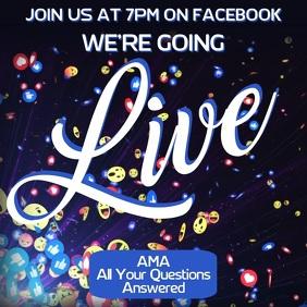 Facebook Live Instagram Ad Tmplate