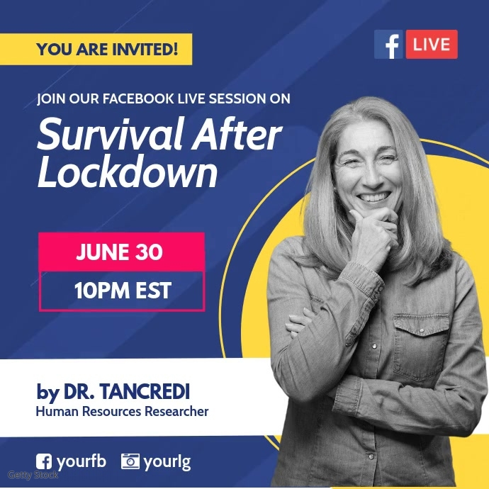 Facebook live session poster template Instagram-opslag