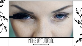 Facebook Make up tutorial video post template