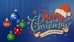 Facebook Merry Christmas Cover Video Template