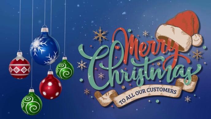 Frohe Weihnachten Bilder Facebook.Facebook Frohe Weihnachten Abdeckung Video Vorlagenbroschure