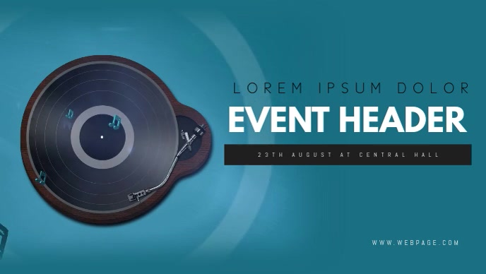 Facebook music event cover video template