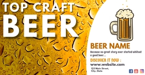 facebook online ad for craft beer e-commerce
