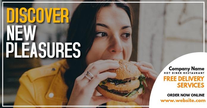 facebook online advertisement restaurant Facebook-advertentie template