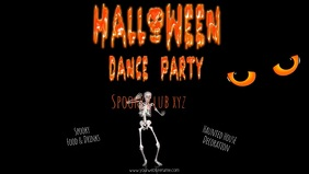 facebook post Halloween dance party flyer tem