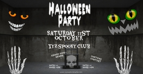 facebook post Halloweenparty flyer template