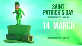 Facebook Saint Patrick's Day Party Facebook Film w tle na Facebooka (16:9) template