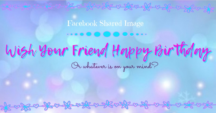 Facebook Shared Image Template