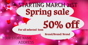 Facebook Spring Sale Imge template