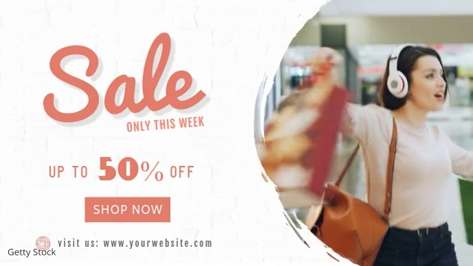 Facebook Video Cover Sale Banner