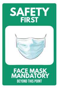 Facemask Required Mandatory Sign Poster โปสเตอร์ template