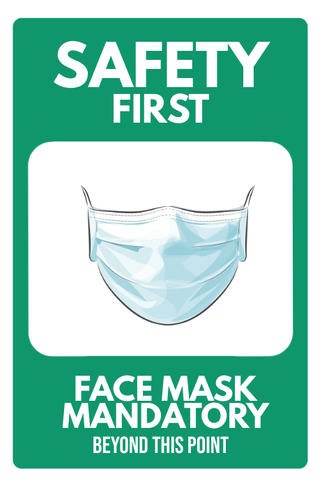 Facemask Required Mandatory Sign Poster Iphosta template
