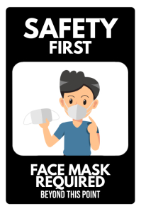 Facemask Required Premises Sign Poster